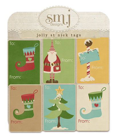 Jolly St. Nick Tags