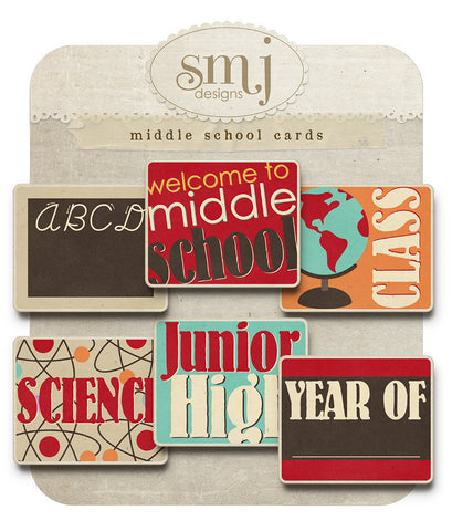 Middle School Cards