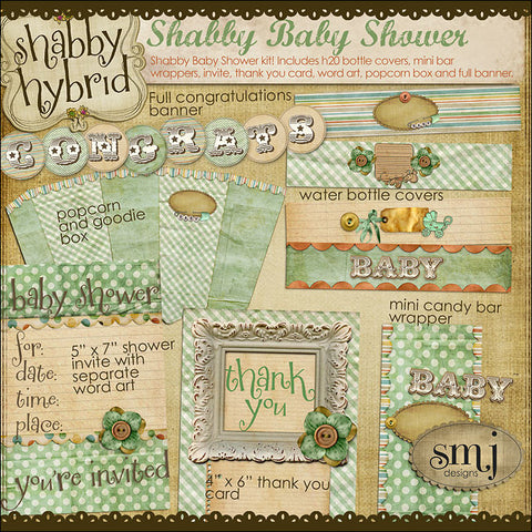 Shabby Babies ~ Shower ~ Baby
