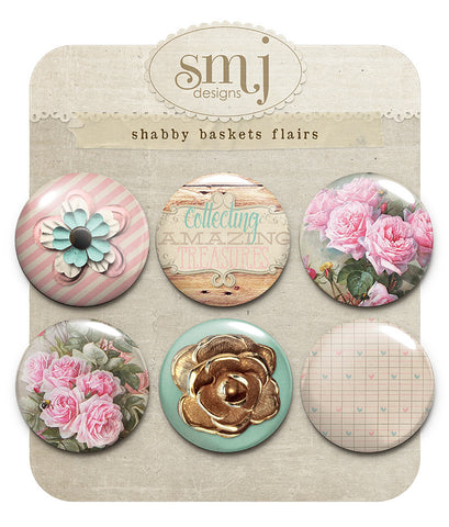 Shabby Baskets Flairs