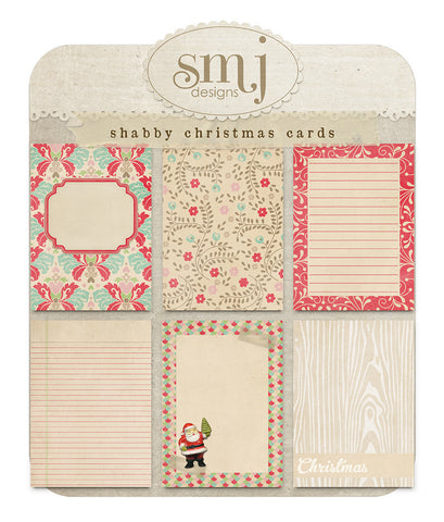 Shabby Christmas Cards
