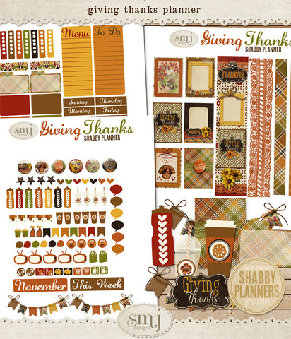 November Giving Thanks Planner