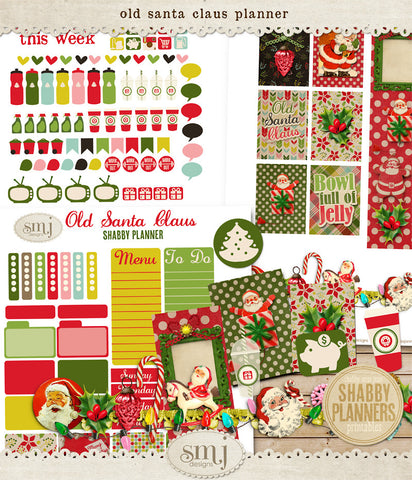 Shabby Planner Old Santa Claus