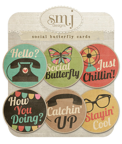 Social Butterfly Cards