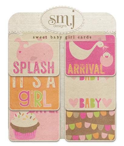 Sweet Baby Girl Cards