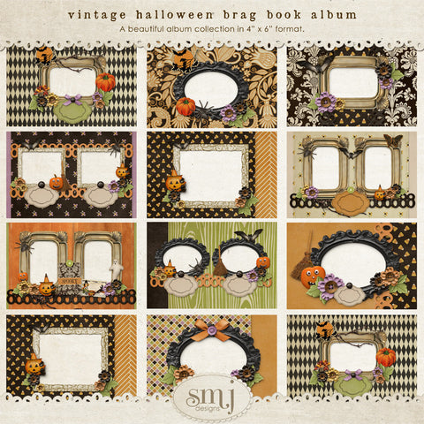 Vintage Halloween Brag Book Album