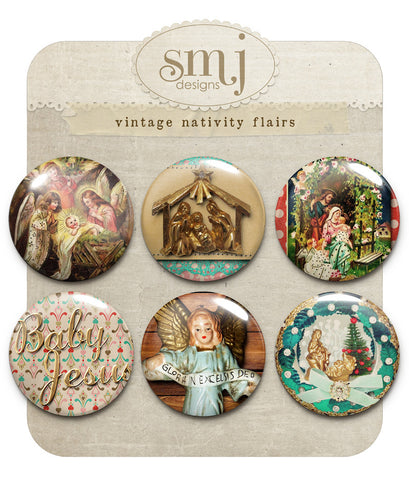 Vintage Nativity Flairs