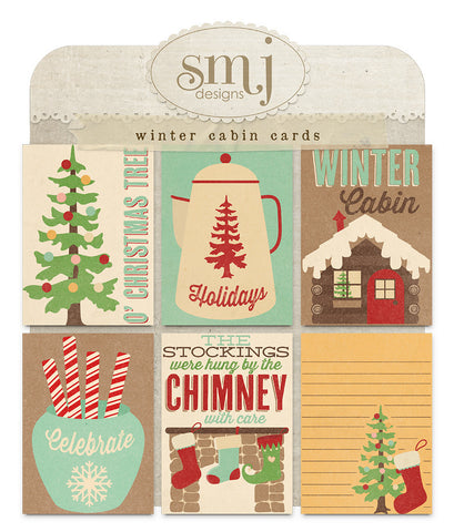 Winter Cabin Cards