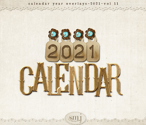 Calendar 2021 Year Overlays Vol 11