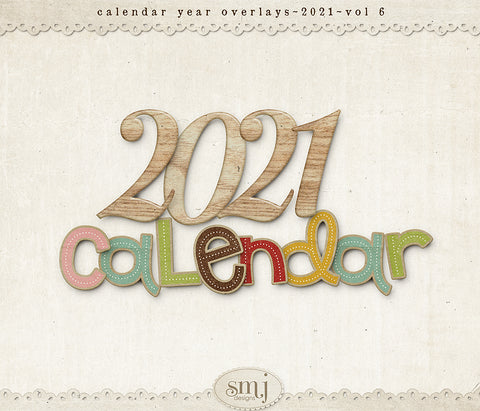 Calendar 2021 Year Overlays Vol 6