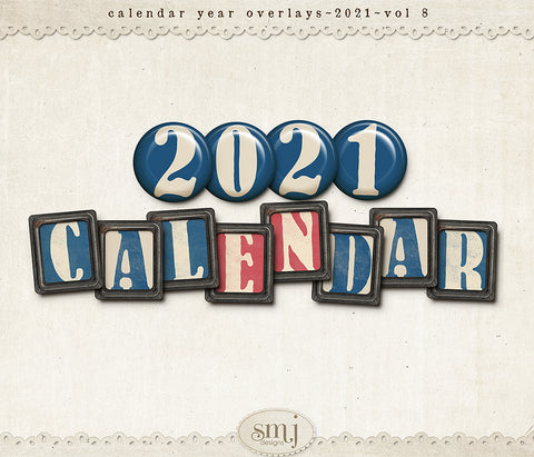 Calendar 2021 Year Overlays Vol 8
