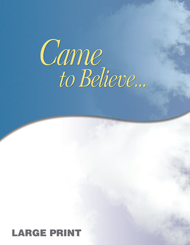 Came To Believe Large Print