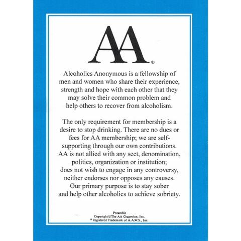 AA Preamble Card