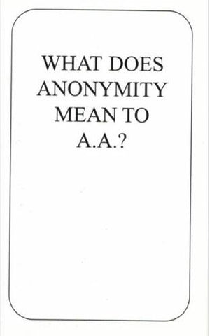 Anonymity Card