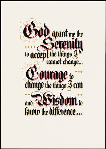 Serenity Prayer Parchment