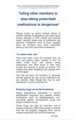 Medications Advice Flyer