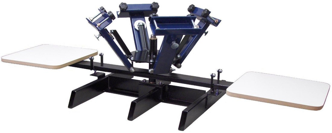 4 COLOR, 2 STATION PRESS W/ STAND