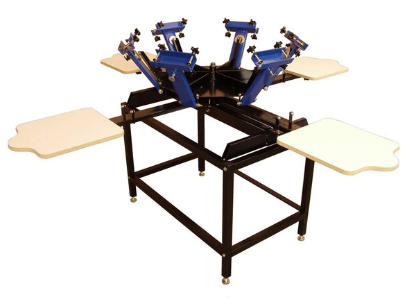 6 COLOR, 4 STATION PRESS W/STAND