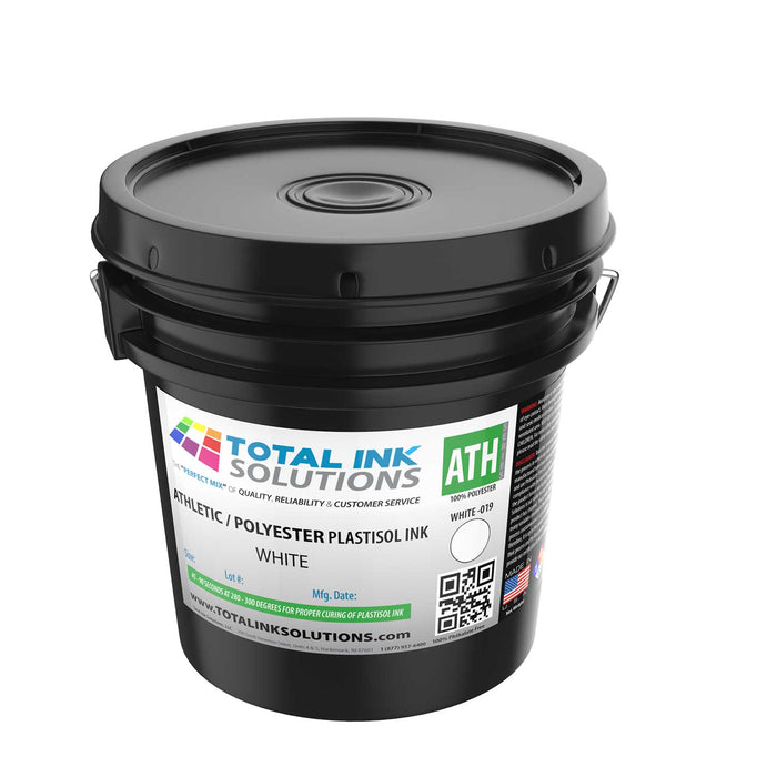Athletic 100% Polyester Plastisol Ink - White - Gallon