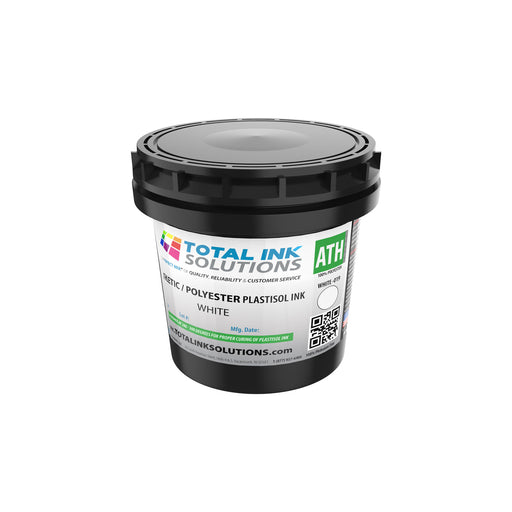 Athletic 100% Polyester Plastisol Ink - White - Pint