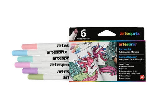 Pastel Sublimation Markers - 6ct