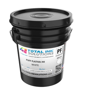 Puff Plastisol Ink - White - 5 Gallon