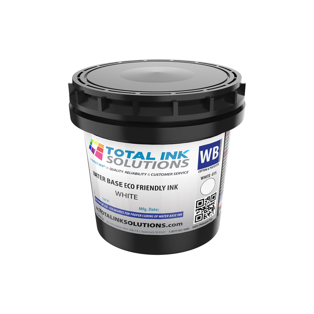 Waterbase Textile Ink - White - Quart
