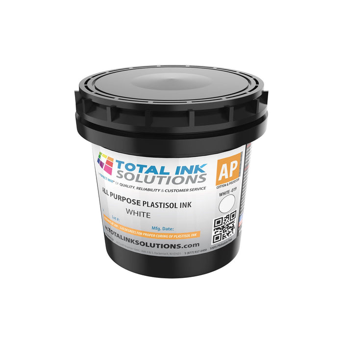 ALL PURPOSE PLASTISOL INK - White - QUART
