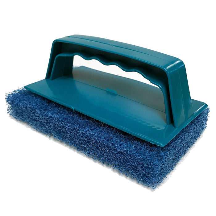 Blue Biggee Scrub Pad (Coarse) and Handle