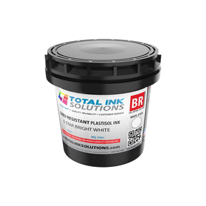 Bleed Resistant Plastisol Ink - 5 Star Bright White - Quart