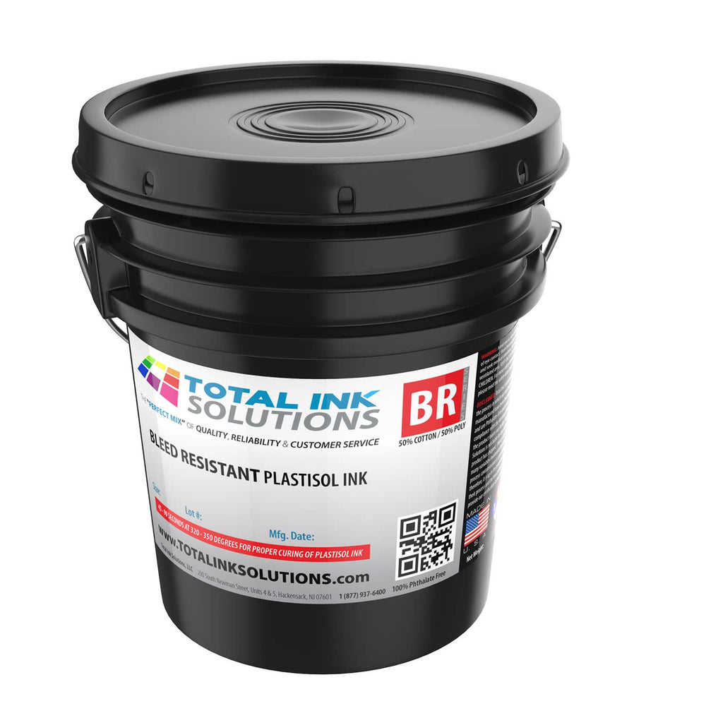 Bleed Resistant Plastisol Ink - 5 Gallon