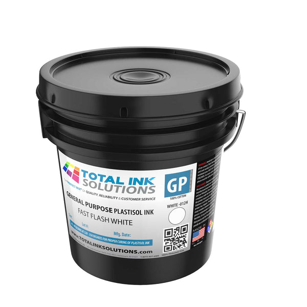 General Purpose Plastisol Ink - Fast Flash White - Gallon