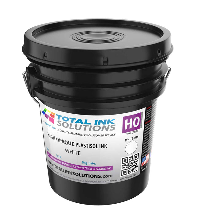 High Opaque Plastisol Ink – High Opaque White – 5 Gallon