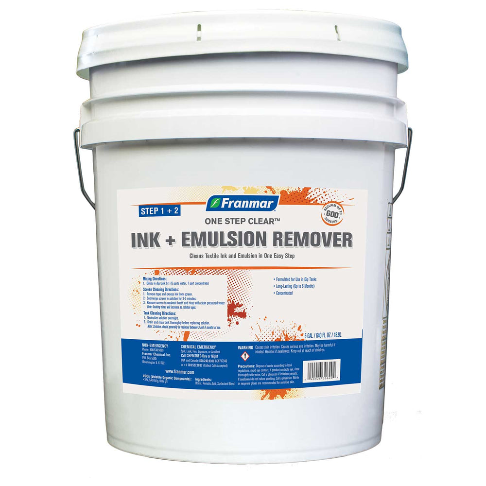 Ink + Emulsion Remover (One Step Clear) - 5 Gallons