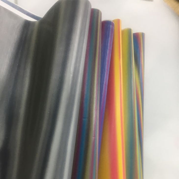Three Color Shift Chameleon Sheet Red/Yellow/Blue - 0.45mm -  (15.75 in x 7.87 in)