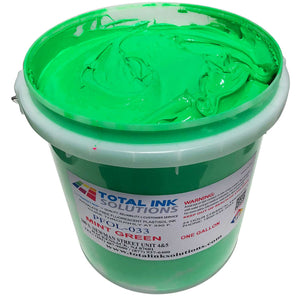 Plastisol Day Glow Fluorescent OL Series Ink - Mint Green