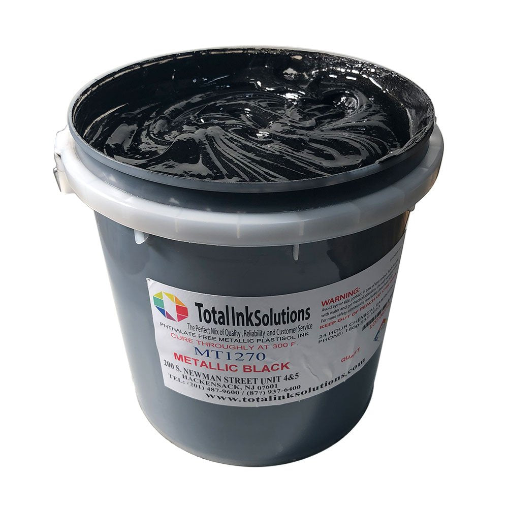 Black - Metallic Low Cure Stretch Plastisol Ink