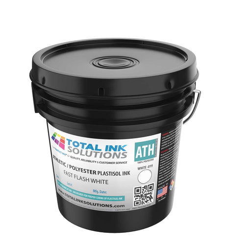 FAST FLASH Athletic 100% Polyester Plastisol Ink - White - Gallon
