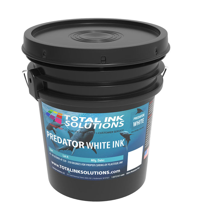 Predator White Plastisol Ink - 5 Gallon