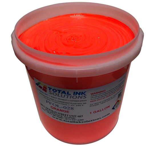 Plastisol Day Glow Fluorescent OL Series Ink - Safety Orange
