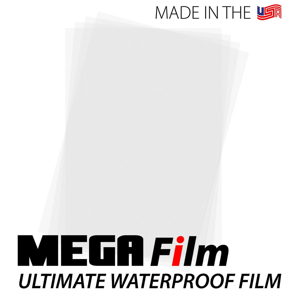 "MEGA Film Waterproof Inkjet Film Sheets - 8.5"" x 11"""