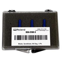 Roland 60°/.10 Offset Blade, 3 ea. - Thick Materials