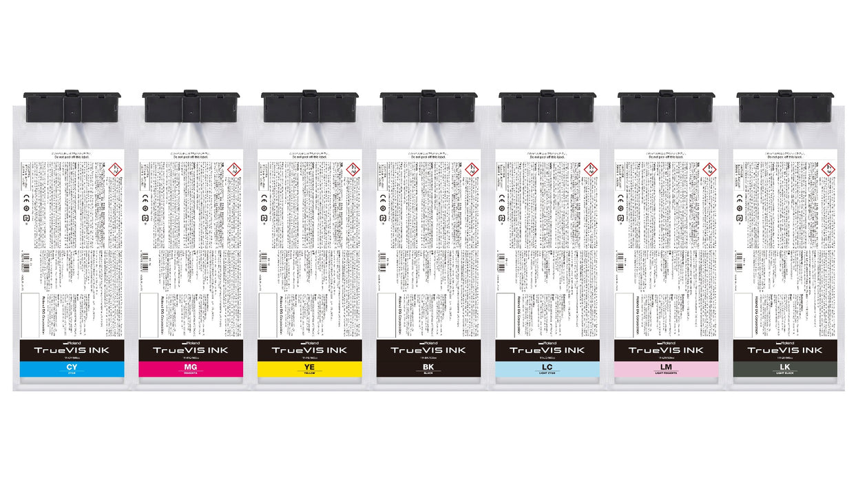 Roland TrueVIS Eco-Solvent Black Ink Cartridge - 500 ml