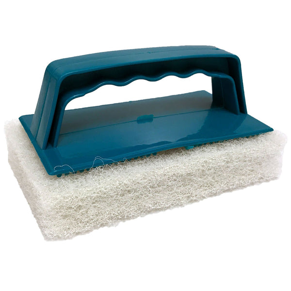 White Biggee Scrub Pad (Medium) and Handle