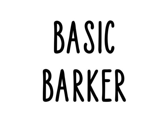 Basic Barker Iron on for Bandanas