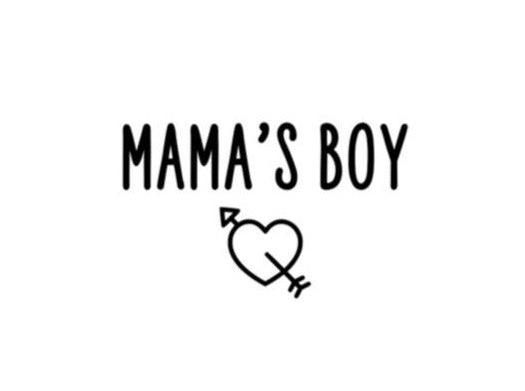 Mama's Boy Iron on for Bandanas