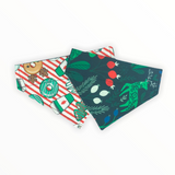 Christmas Donuts Reversible Pet Bandana