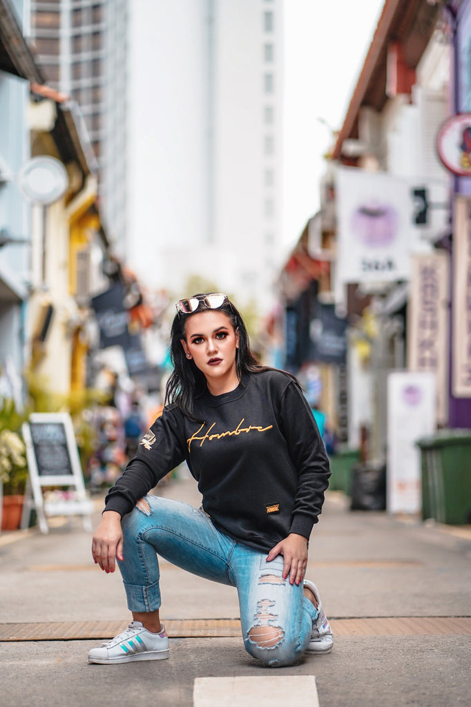 BLACKGOLDSERIES: GOLD PULLOVER WITH SIDE ZIPPER