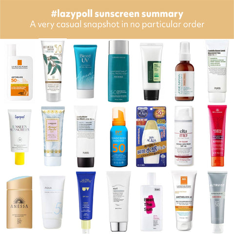 2020 Community Sunscreen Favorites