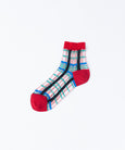 Tricote Checks Socks Red - OKURA